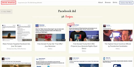 Competitor facebook ad